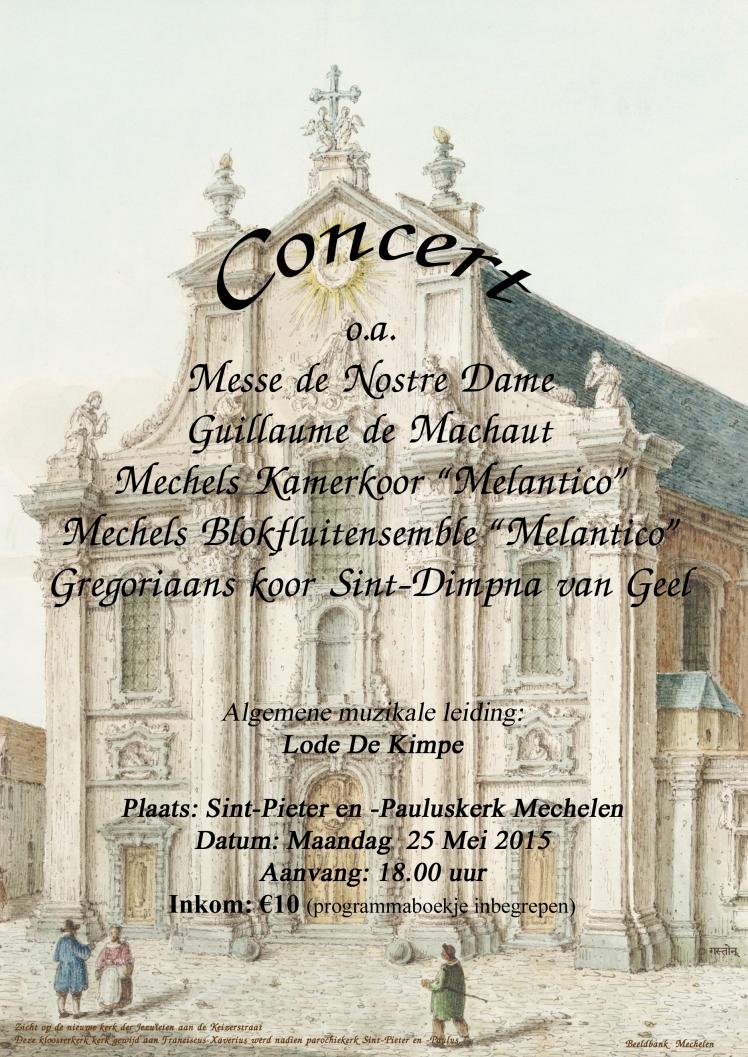 Affiche Sint-Pieter en -Pauluskerk Mechelen 25-05-2015